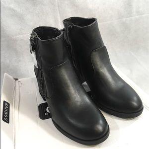 Black Bamboo Heeled Boots